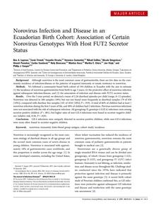 Norovirus Infection and Disease in an Ecuadorian Birth